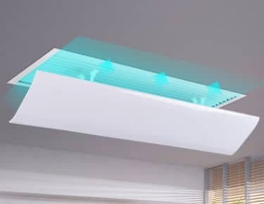 Air deflector for ceiling air grille 1