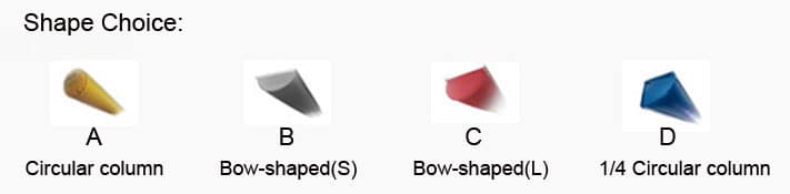fabric duct shape choices