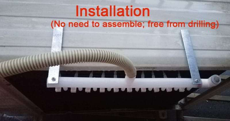 installation showing for ac energy saver