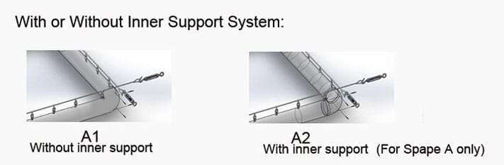 with or without inner supporting system