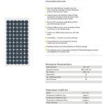Solar Panel 150W MonoCrystalline