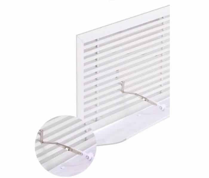 Air deflector for vertical wall Louver air grille 6