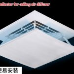 Air deflector for ceiling air diffuser