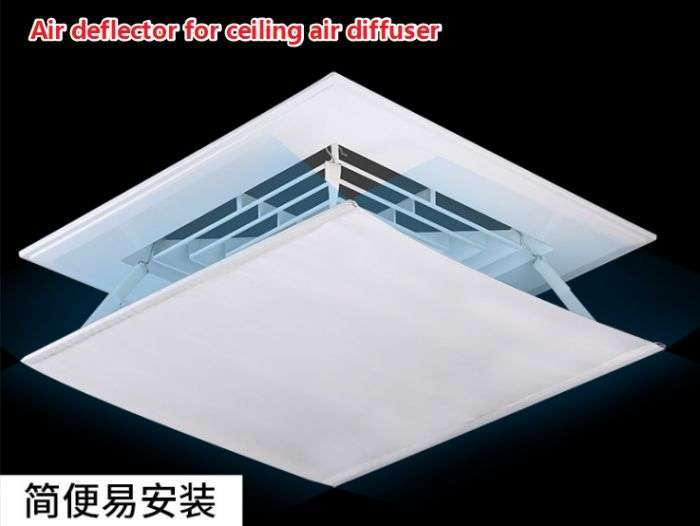 Air deflector for ceiling air diffuser 1