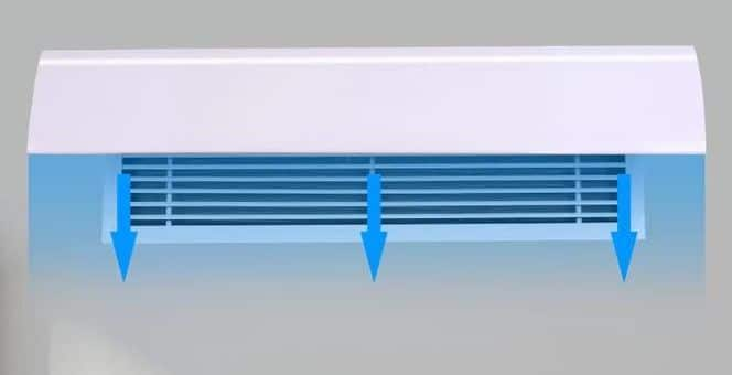 Air deflector for vertical wall Louver air grille 20