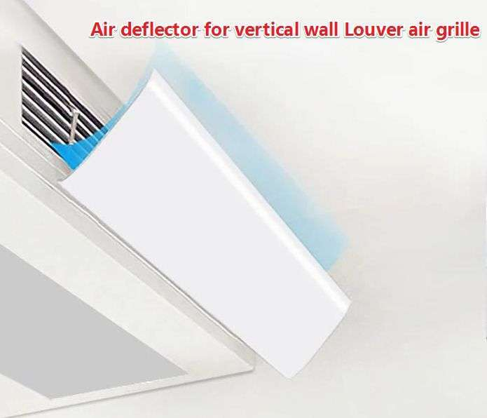 Air deflector for vertical wall Louver air grille 1