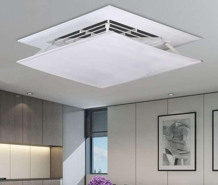 Air deflector for ceiling air diffuser 6