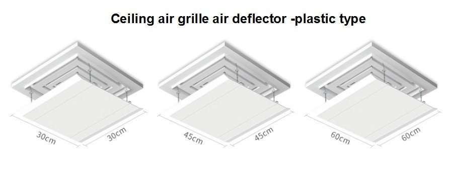 ceiling air grille air deflector