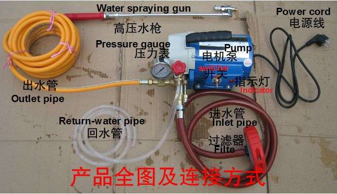 High pressure water jet pump for Air Conditioner coil cleaning 6