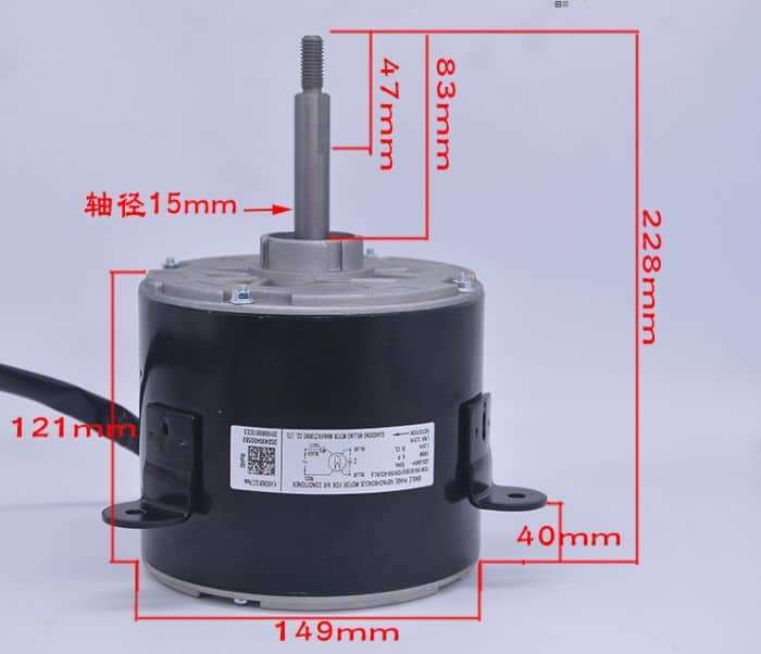Air conditioning outdoor motor YDK190-6D/C/(B) (AL)  4