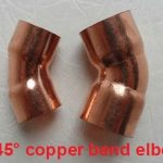 45° copper bend elbow