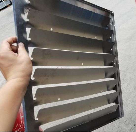 Stainless steel air baffle for air conditioner outdoor unit 6