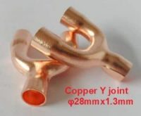 Copper joint Y-shaped tee φ28mmx1.3mm,1-1/8""