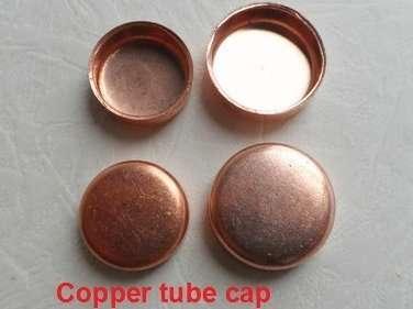 Copper tube cap