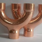 Equal Diameter Copper Y joint
