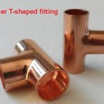 Equal diameter Copper T-shaped fitting