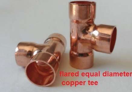 Equal diameter Copper T-shaped fitting 6