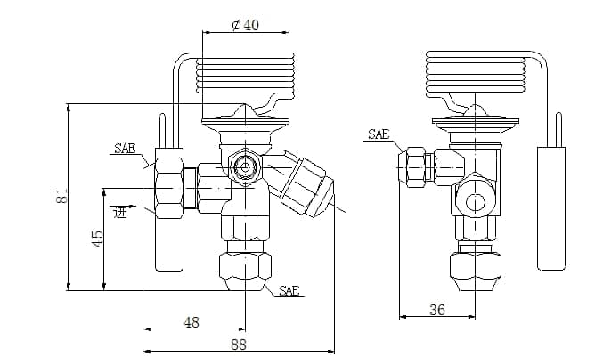 Thermodynamic expansion valve SME series 6