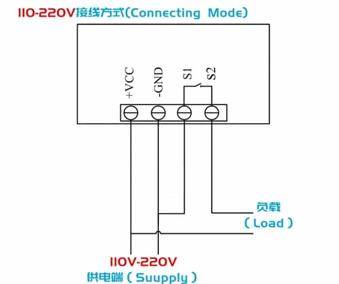 High precision digital temperature controller DC12V DC24V AC110~220V 66