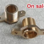 Brass single male thread socket connector with fixed ear flange