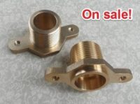 brass-single-male-thread-socket-connector-with-fixed-ear-flange