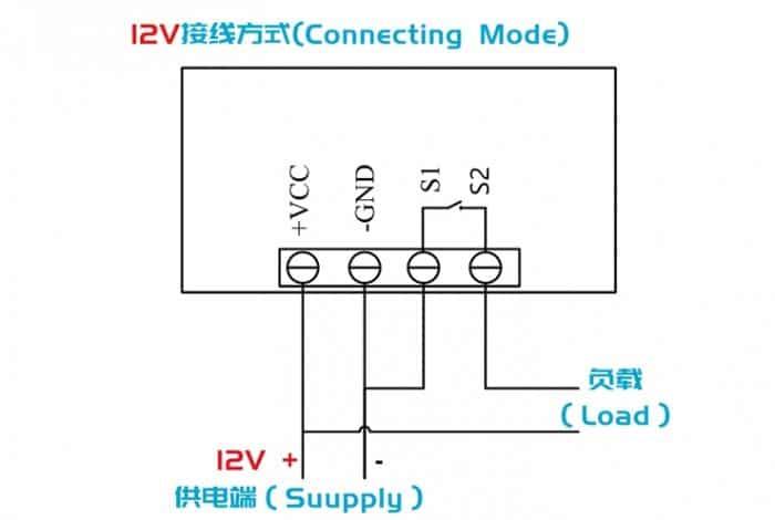 High precision digital temperature controller DC12V DC24V AC110~220V 64