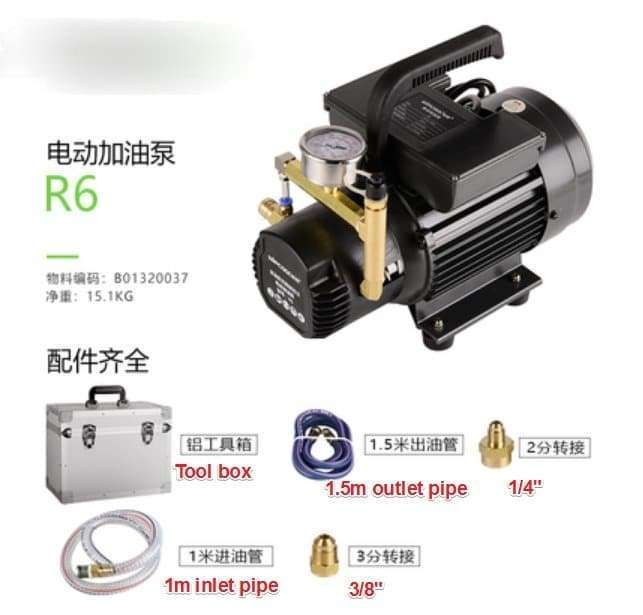 Refrigerant oil charging electrical pump Electric refueling filling machine 10