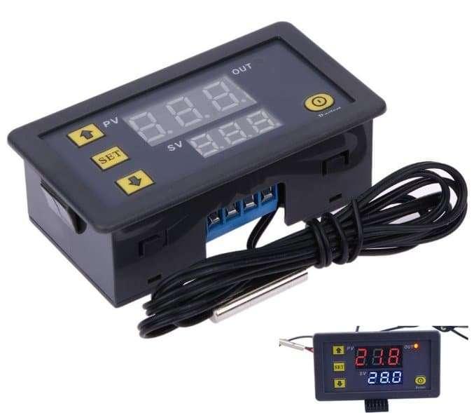 High precision digital temperature controller DC12V DC24V AC110~220V 58