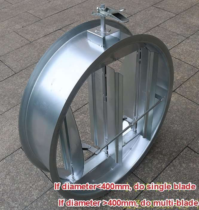 Circular Duct Air Volume Damper with multi-blade 6