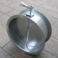 Round Duct Air Volume Damper With Single Blade