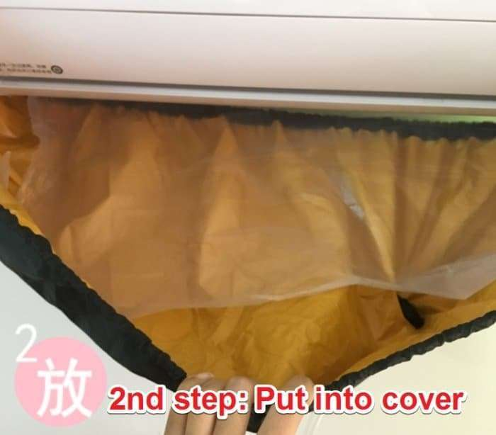 Water Baffle Sticker For Air Conditioner Cleaning Bag 10