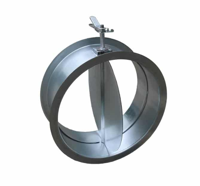 Round Duct Air Volume Damper With Single Blade 4