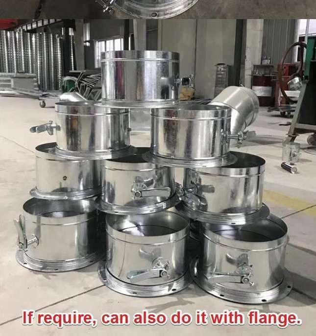 Galvanized Steel Round Duct Volume Control Damper 6