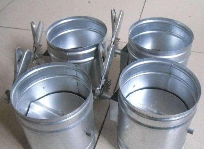 Galvanized Steel Round Duct Volume Control Damper 2