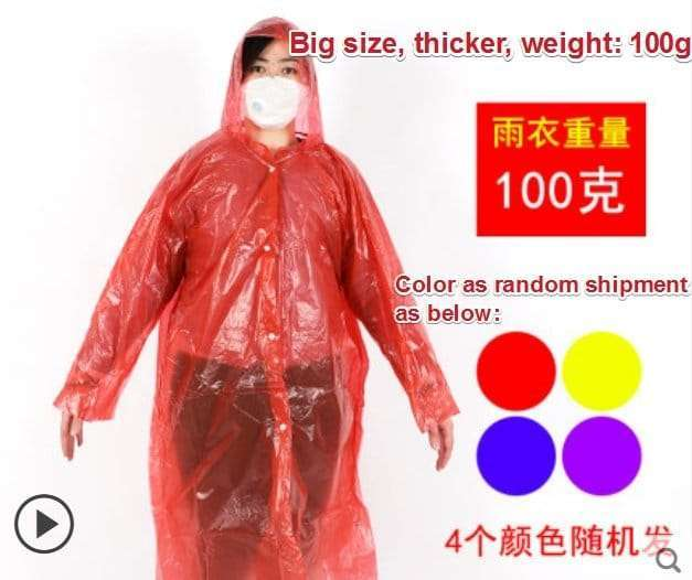 Plastic film protective disposable clothing 10