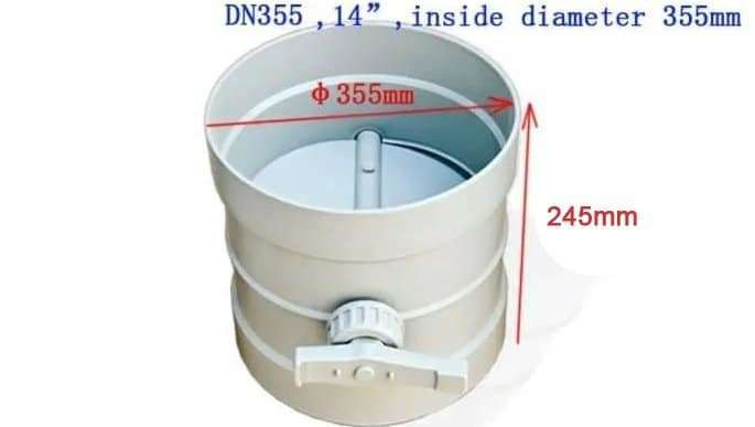PP Damper Valves,controlling by hand,Circle Duct inline plastic VCD 8