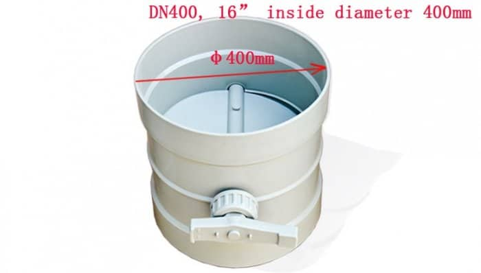 16inch manual damper