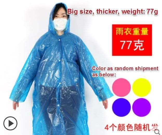 Plastic film protective disposable clothing 8