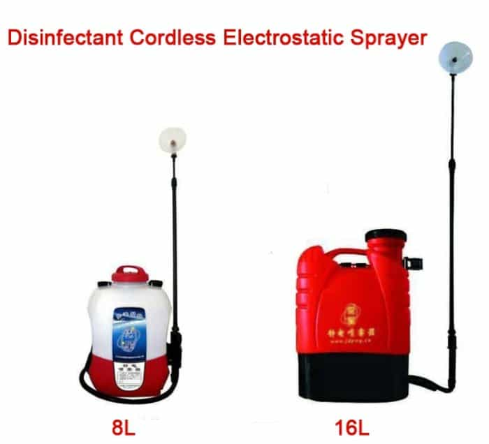 Disinfectant Cordless Electrostatic Sprayer,Electrostatic disinfectant fogger atomizer 2