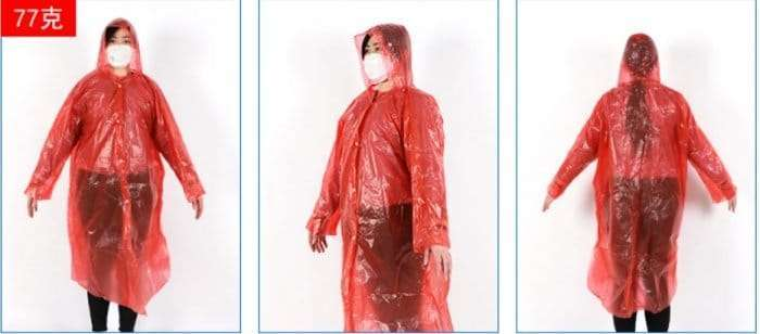 Plastic film protective disposable clothing 16