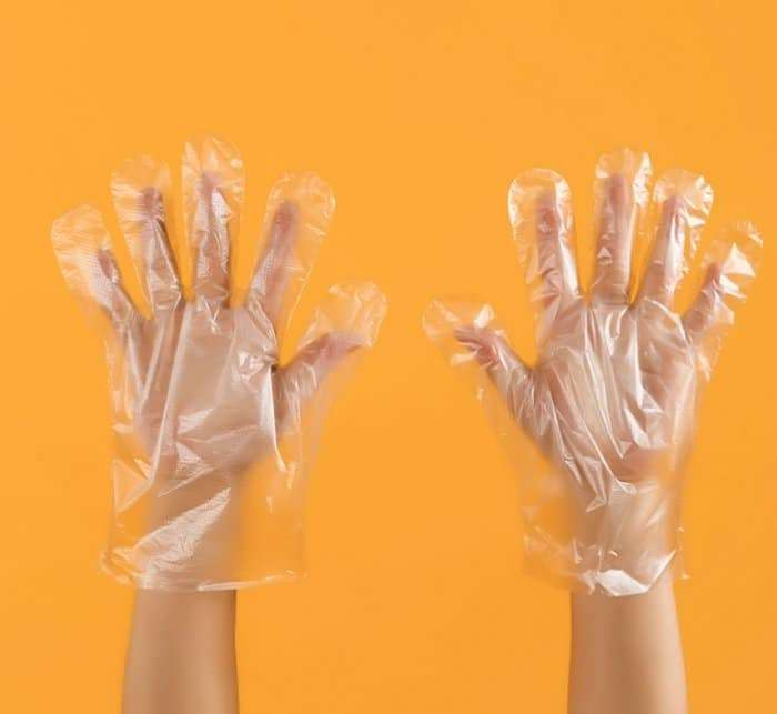 Disposable food grade sanitary PE gloves 4