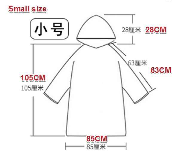 Plastic film protective disposable clothing 12