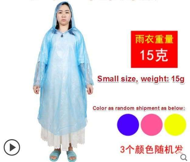 Plastic film protective disposable clothing 4