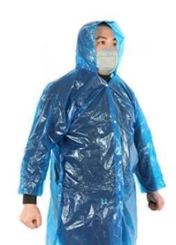Plastic film protective disposable clothing 2