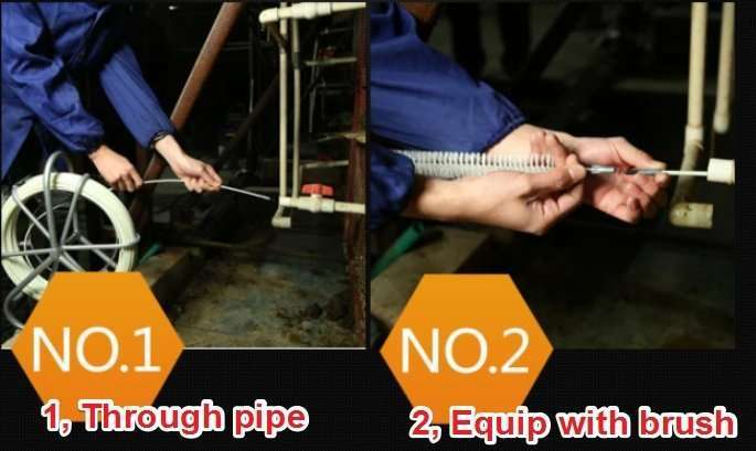 Poultry drinking water line pipe cleaning tool 10