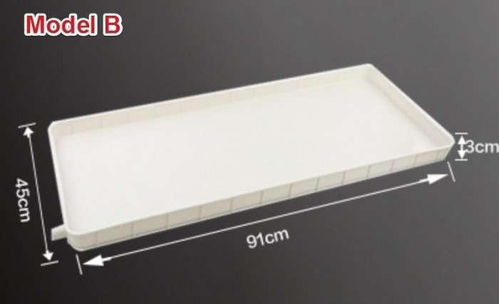 Air conditioner outdoor unit condensate drain tray 6