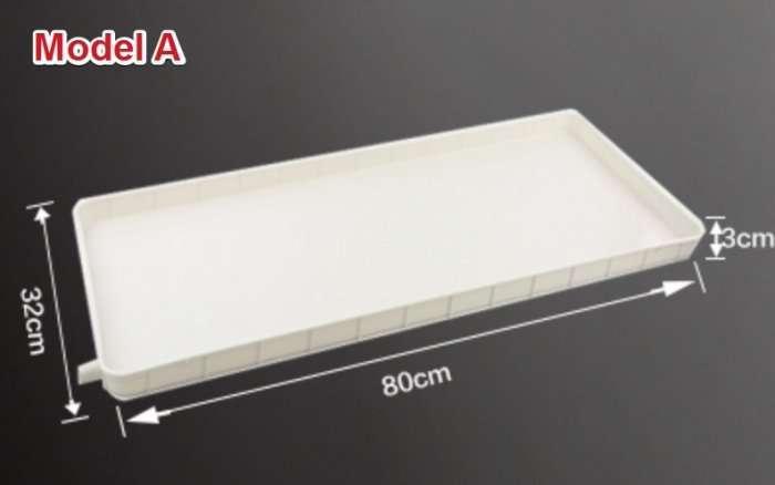 Air conditioner outdoor unit condensate drain tray 4