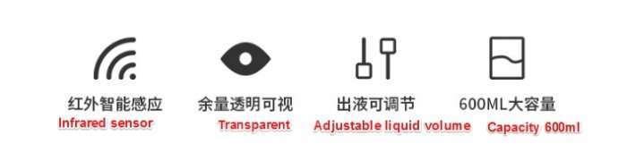 Automatic Disinfectant Dispenser,Infrared body sensor Disinfectant Dispenser 6