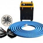 Rotary brush with dust vacuum extractor 2 in 1 air  duct cleaning machine