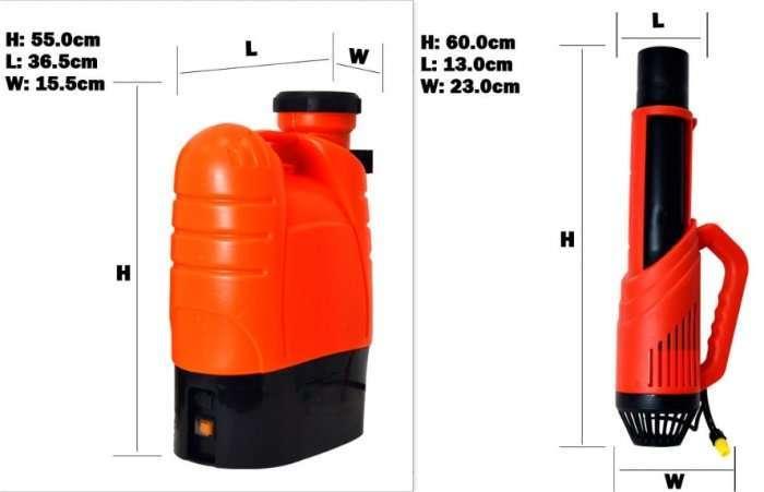 Disinfectant Cordless Electrostatic Sprayer,Electrostatic disinfectant fogger atomizer 16
